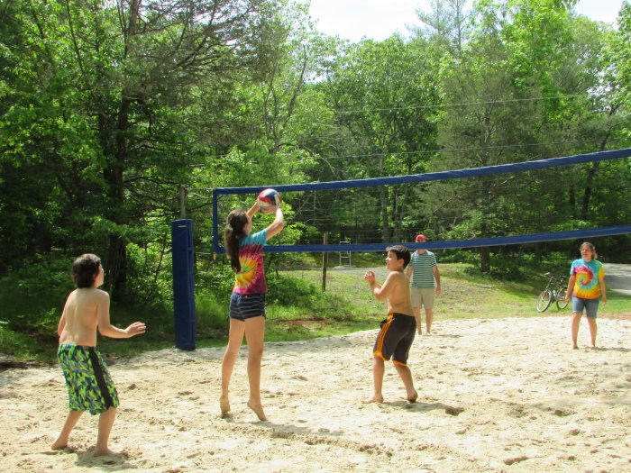 Beach Volleyball At Rip Van Winkle Campgrounds