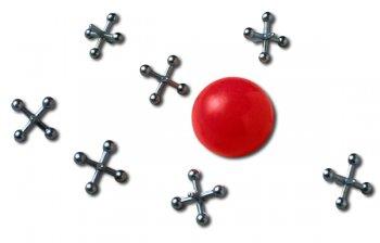 Red ball and jacks