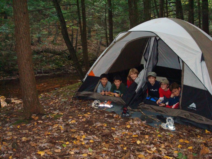 Riverside Camping at Rip Van Winkle Campgrounds, Saugerties, NY