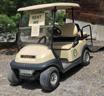 golf cart for rent at Rip Van Winkle Campgrounds in Saugerties, NY