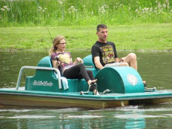 Pedal Boats at Rip Van Winkle Campgrounds