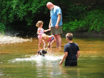 Old Fashioned Swimming Hole at Rip Van Winkle Campgrounds in Saugerties, NY