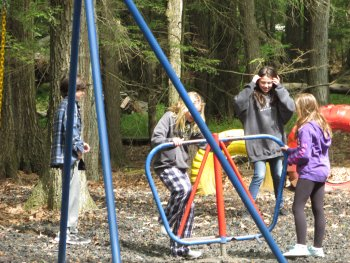 Playground at Rip Van Winkle Campgrounds in Saugerties, NY