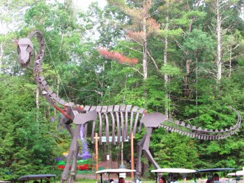 Pickles the Dinosaur at Rip Van Winkle Campgrounds in the Catskills NY