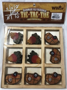 Handmade Old Fashioned Tic-Tac-Toe Game Image