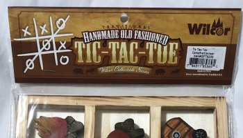 Handmade Old Fashioned Tic-Tac-Toe Game