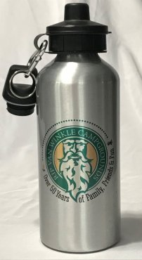 Rip Van Winkle Campgrounds Metal Water Bottle Image