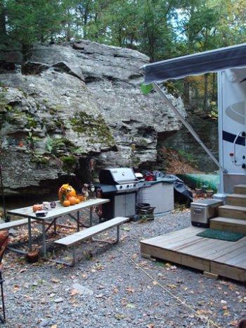 Seasonal Camp Sites at Rip Van Winkle Campgrounds in Saugerties, NY