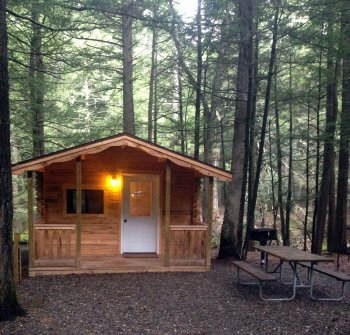 Rental Cabins at Rip Van Winkle Campgrounds