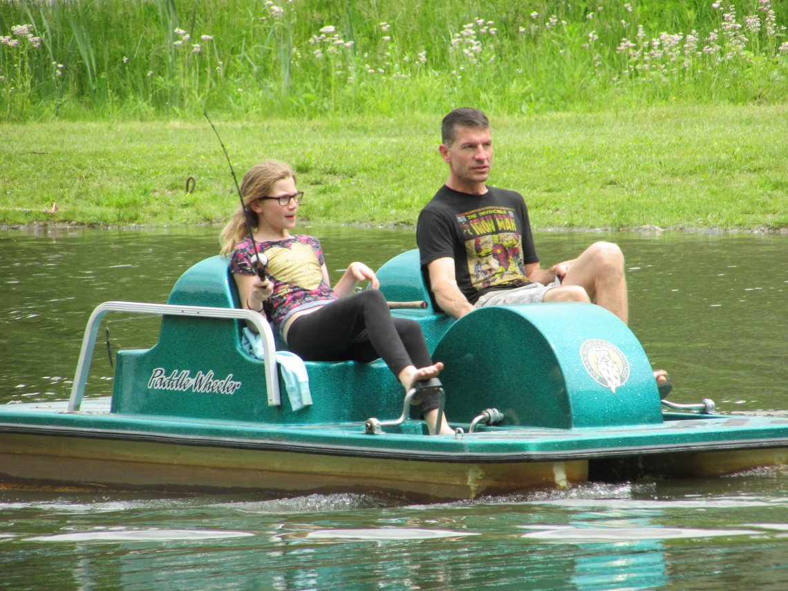 Pedal Boats at Rip Van Winkle Campgrounds in Saugerties, NY