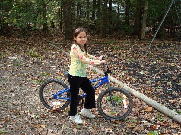 Biking to the playground