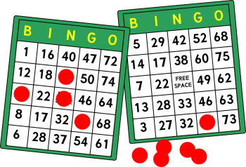 Bingo Boards with red markers