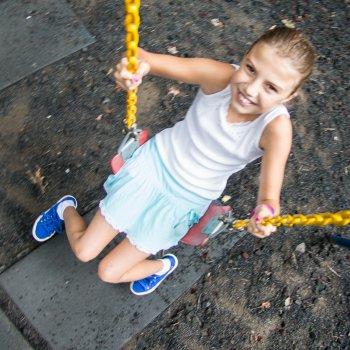Girl on Swing at Rip Van Winkle Campground