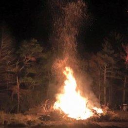 End of Camping Season Bonfire