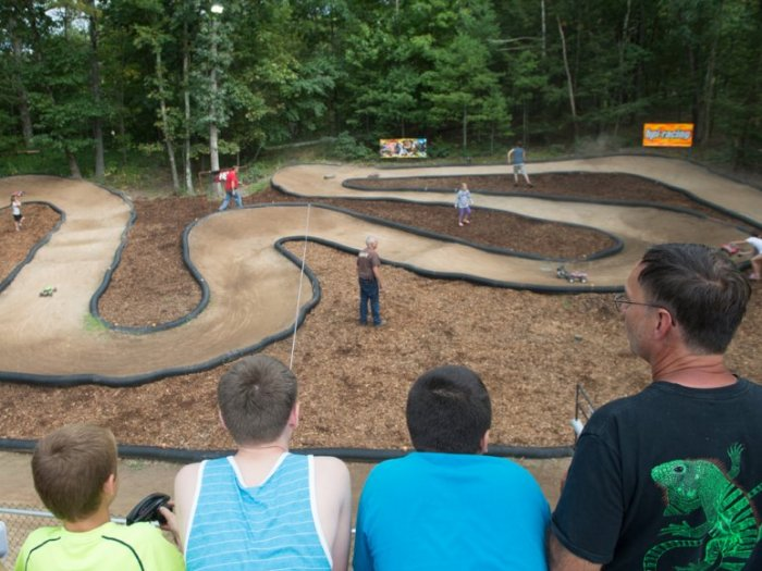 People having fun at the Rip Van Winkle Campgrounds RC Track