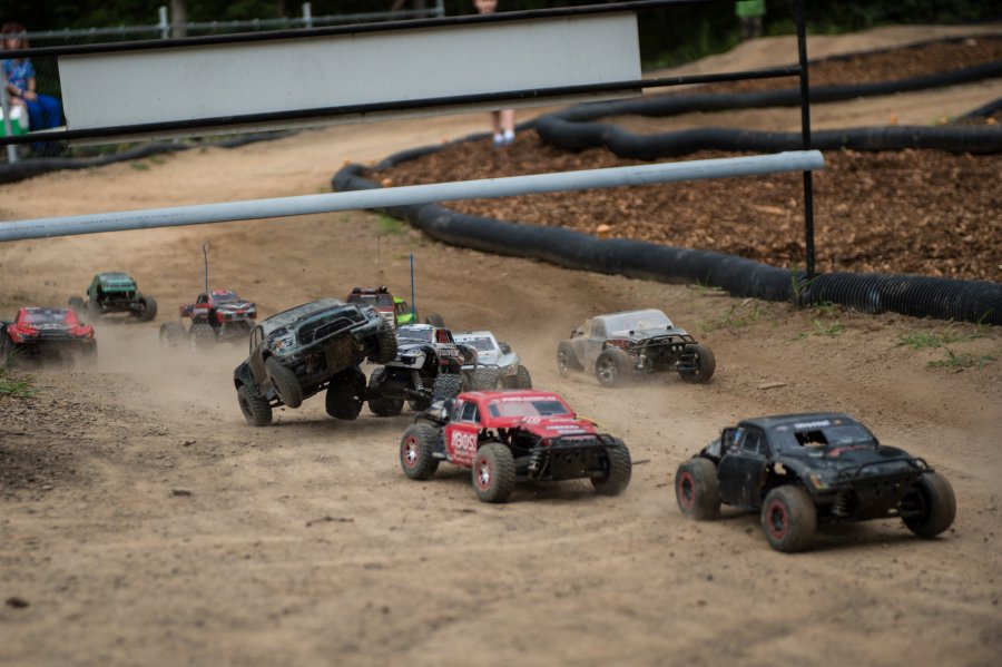 RC cars racing at RIP Van Winkle Campground RC Race Track in Saugerties NY