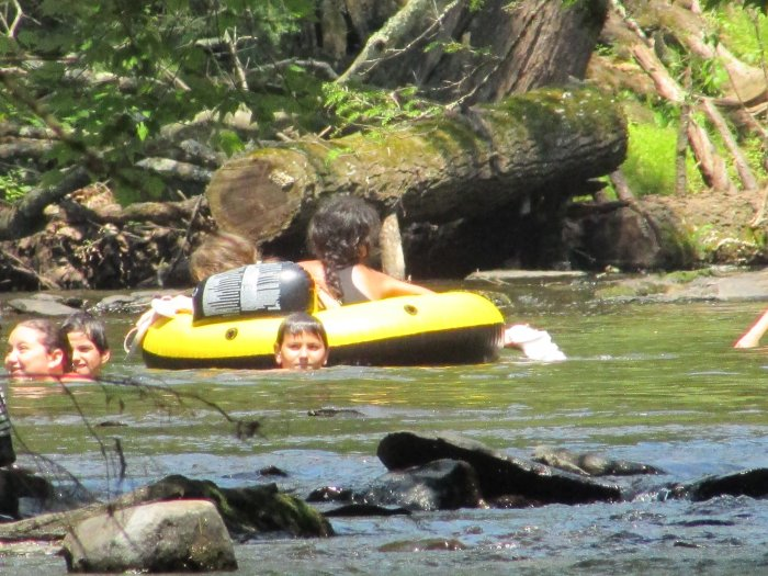 People Swimming in the Rip Van Winkle Campgrounds Swimming Hole