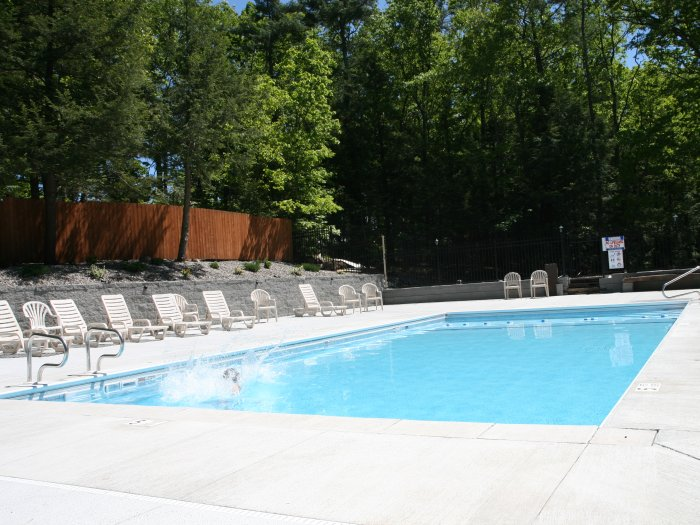 Heated Inground Swimming Pool at Rip Van Winkle Campgrounds