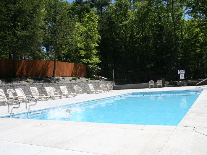 Heated Inground Swimming Pool at Rip Van Winkle Campgrounds