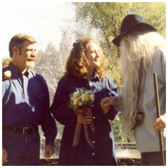 Back in 2000 we hosted a wedding where Rip Van Winkle was bestowed with the honor of giving away the bride!