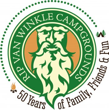 Rip Van Winkle Campgrounds 50th Anniversary Logo