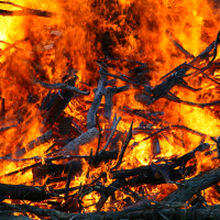 Camp Fire at Rip Van Winkle Campgrounds
